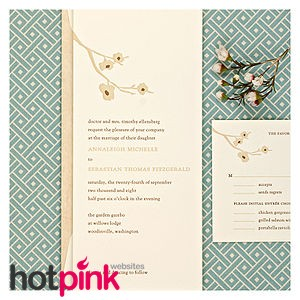 English: Letterpress Wedding Invitation