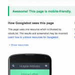 Googles mobile friendly test