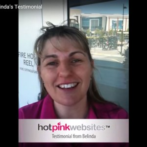 Belindas Testimonial for Hotpink Websites